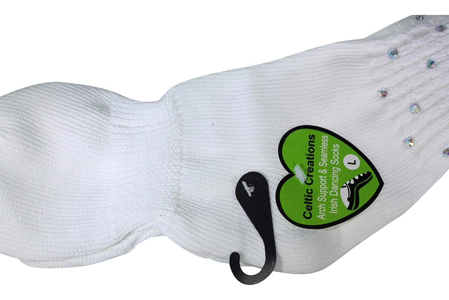 IRISH DANCE SOCKS ANKLE Length Arch Support Seamless Poodle Socks 6 to 9 years